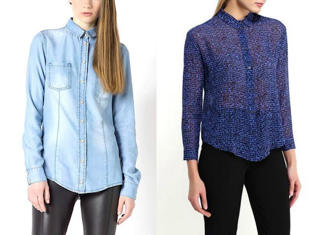 camicia jeans e trasparenze