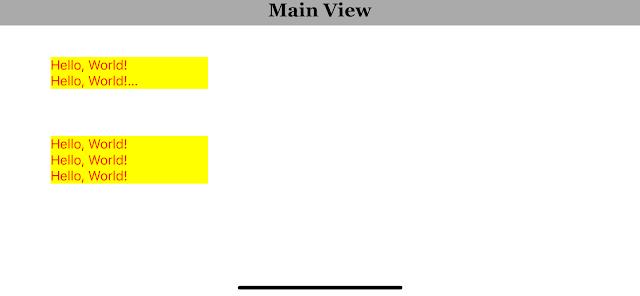 iOS Swift UILabel Multiline Text Display