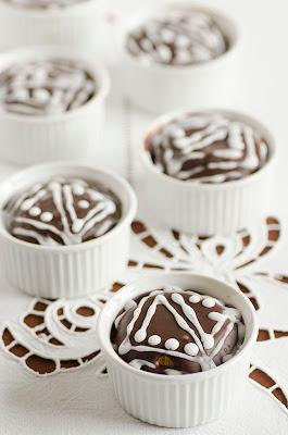 Cupcakes  all'arancia e cioccolato fondente