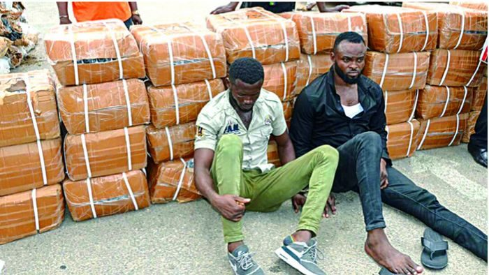 Notorious Looters Arrested While Stealing Goods At Trade Fair Complex (Photo)