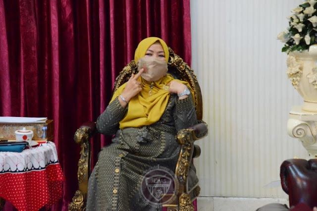 Idah Syahidah Promosikan Masker Karawo Saat Vicon Dengan KKIG