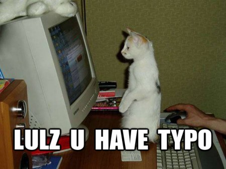 You Have Typo, funny cat meme