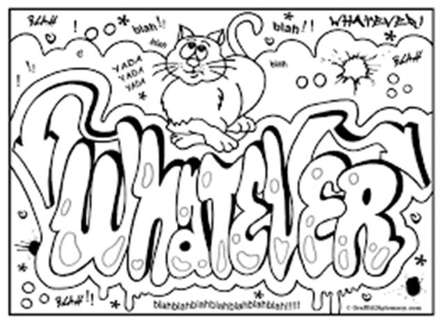 Fein Graffiti Malvorlagen Wörter Bilder - Entry Level Resume ...