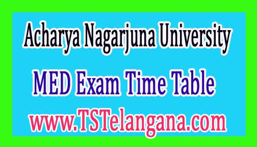 ANU MED (Part Time) 2nd Year Regular & Supply Exam Time Table 2017