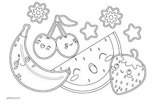 דפי צביעה פירות