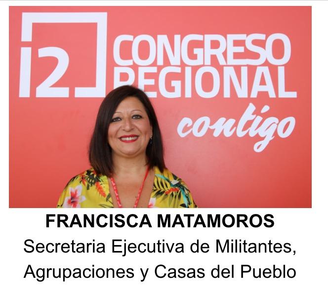 Paqui Matamoros, nueva Secretaria Regional Ejecutiva de Militantes, Agrupaciones y Casas del Pueblo
