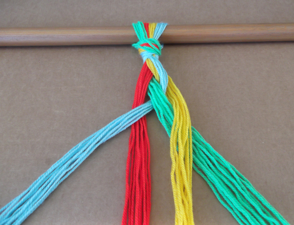 Textile Arts Now: 4 strand braid