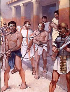 Enfoncer un esclave romain