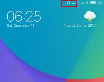 Cara Menghilangkan Icon Headset di Hp Xiaomi