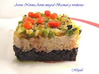 Arroz Nerone, arroz integral Basmati y verduritas