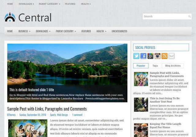 Central Blogger Theme