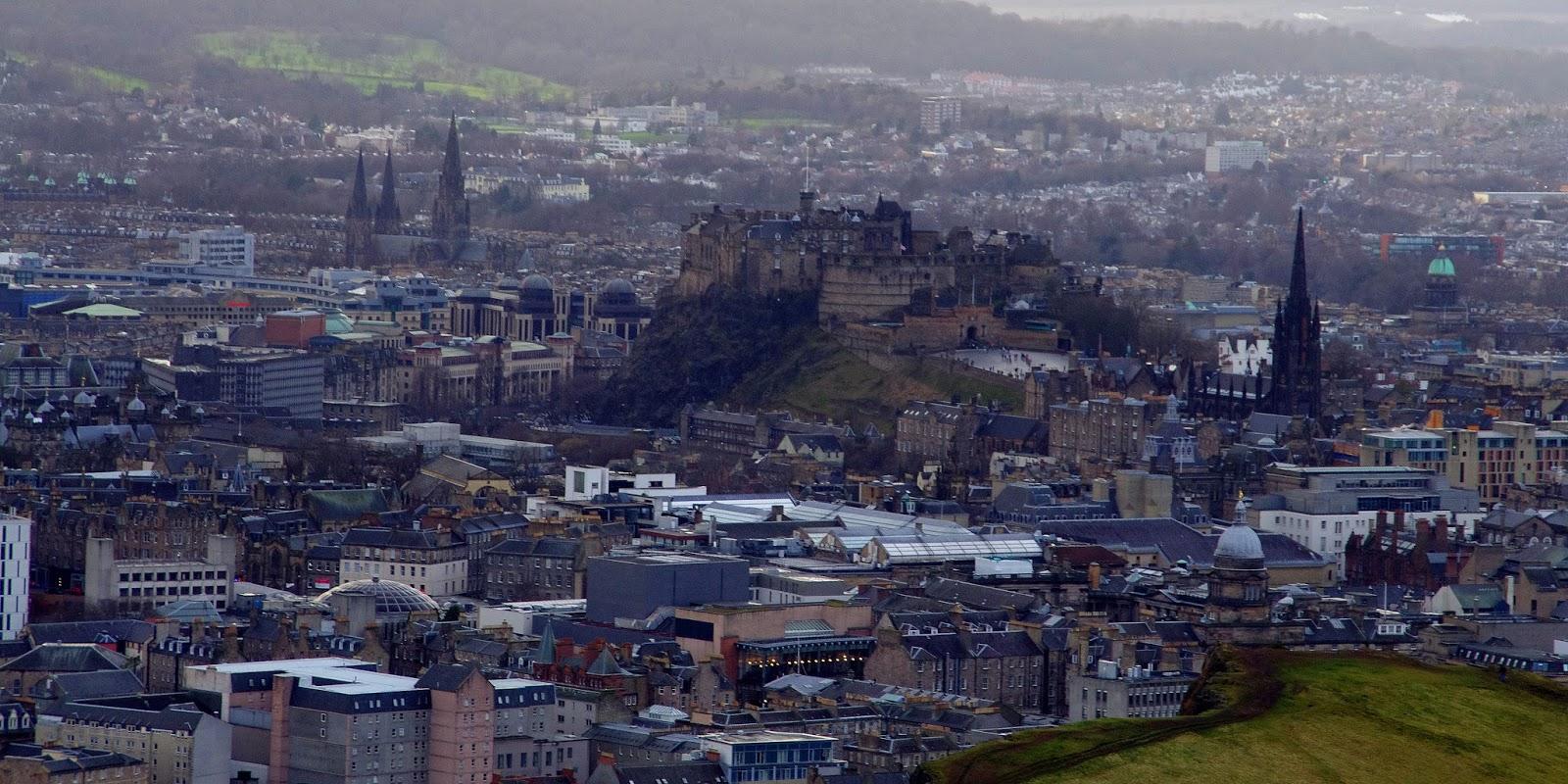 Edinburgh Scotland from Arthurs Seat