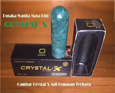 gambar crystal x asli kemasan terbaru