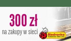 300 zł do Biedronki za kartę mamBONUS w BGŻ BNP Paribas