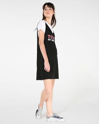 Moda Vestido Sobreposição