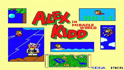 Pantalla de inicio de Alex Kidd in Miracle World