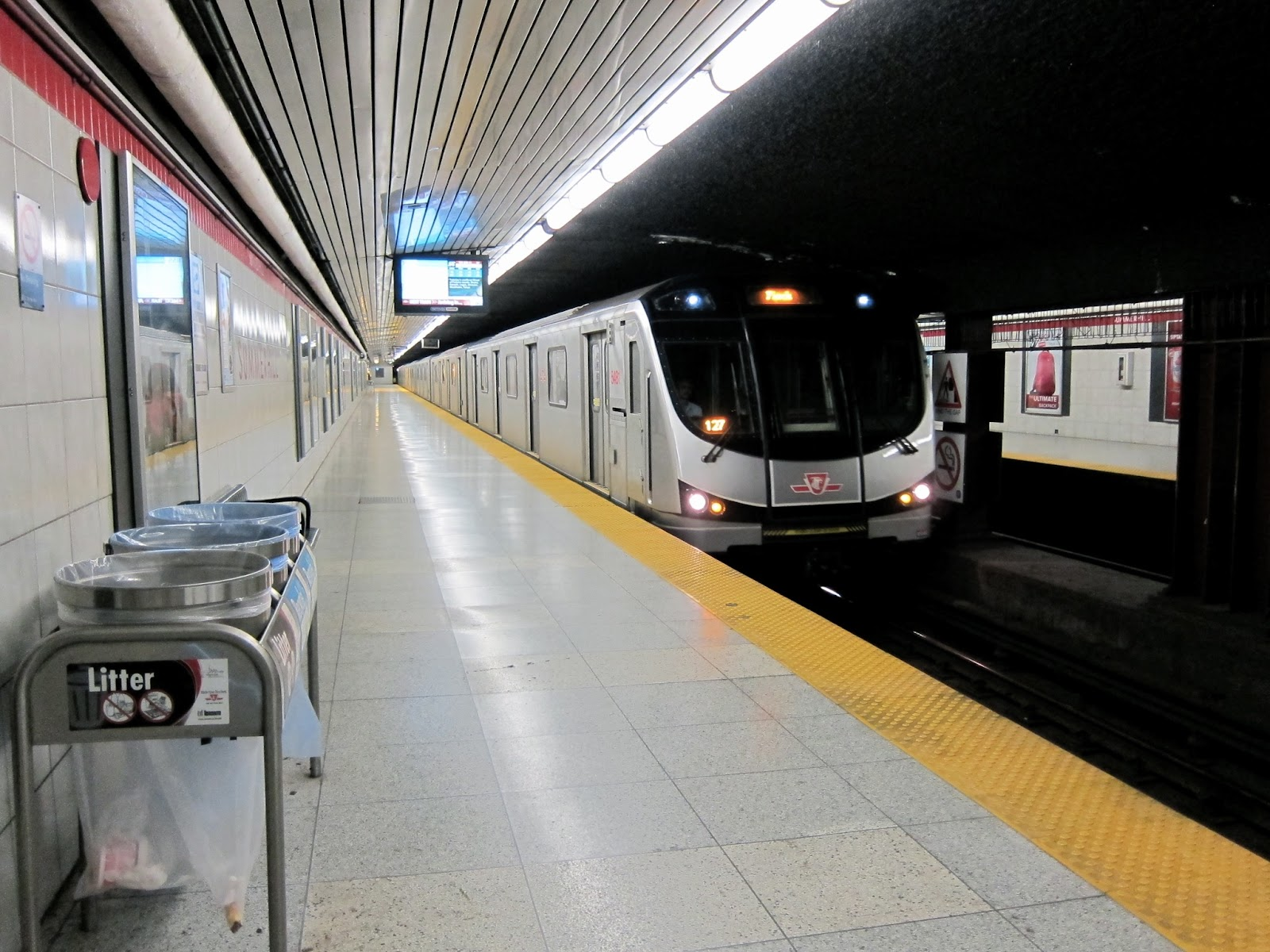 Train at Summerhill subway station