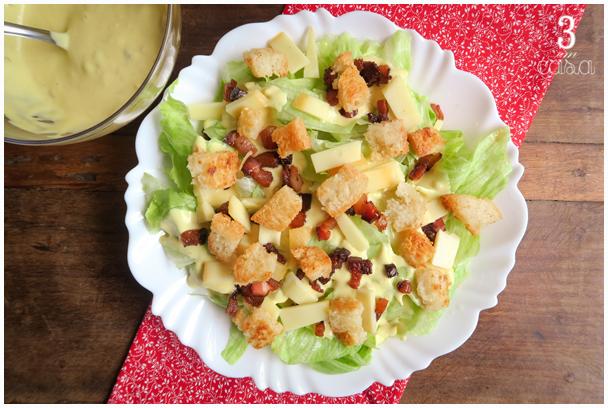 salada caesar receita