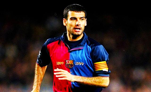 بيب غوارديولا قائد فريق برشلونة