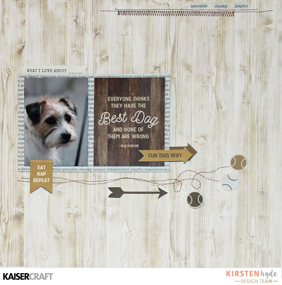 Pet Animal KaiserCraft Clear Stamps Pawfect Cat