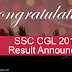 SSC CGL Result 2016 Out | Check SSC CGL Final Result