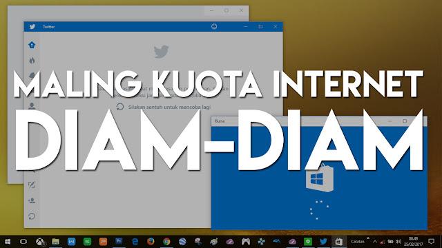 Dengan malakukan cara ini, maka Windows 10 kamu tidak akan boros kuota lagi.