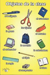 Espanhol sbo maestra irene s es objetos del aula - Mesas de libro para salon ...