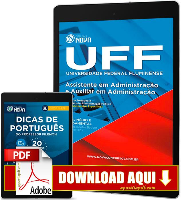 Apostila UFF 2016 PDF Download Assistente em Administração