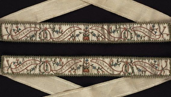 MFA 18th century silk garters