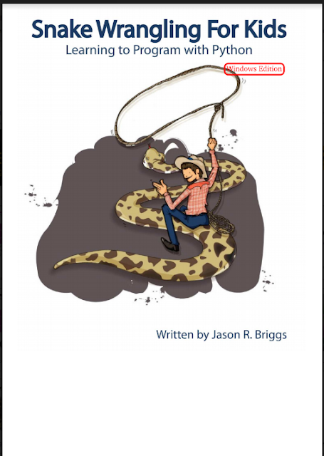 snake Wrangling For Kids Learning to Program With Python Window edition