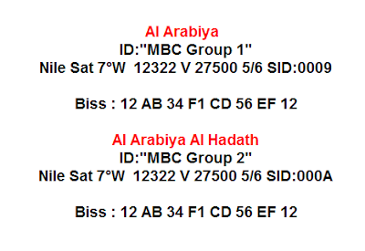 حصريا شفرة Biss لقناتي MBC Group 1+2 على النايل سات