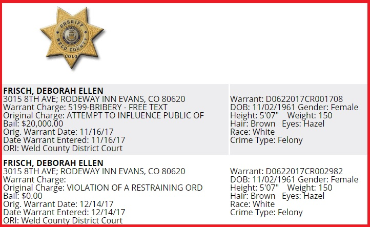 Teh Internets Are Forever, Debbie   : New Weld Warrant for