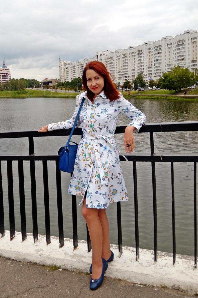 Floral print summer coat