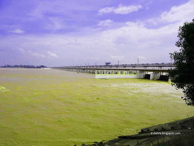 Landscape View of Indrapuri Barrage, Indrapuri Dam, Dehri on Sone