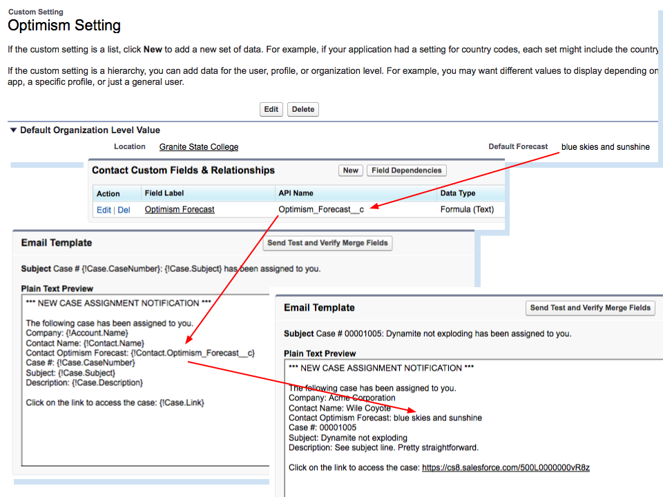 Highway To Concord Custom Setting Values In Salesforce Email Templates