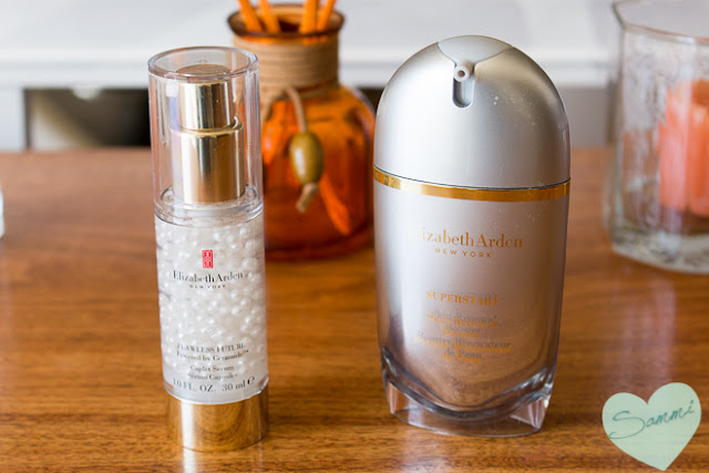 The Power of Two: Elizabeth Arden Skincare Review of Superstart Skin Renewal Booster and Flawless Future Powered by Ceramide Caplet Serum