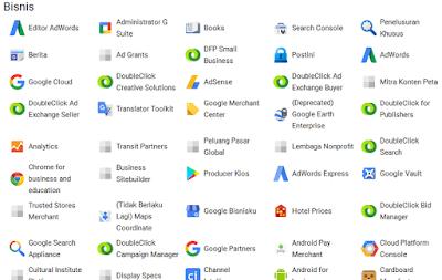 Ratusan Produk Dan Layanan Google yang perlu anda ketahui