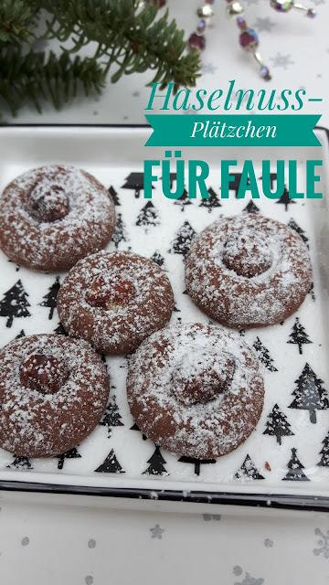 schnelle Weihnachtsbäckerei: Haselnussplätzchen für Faule