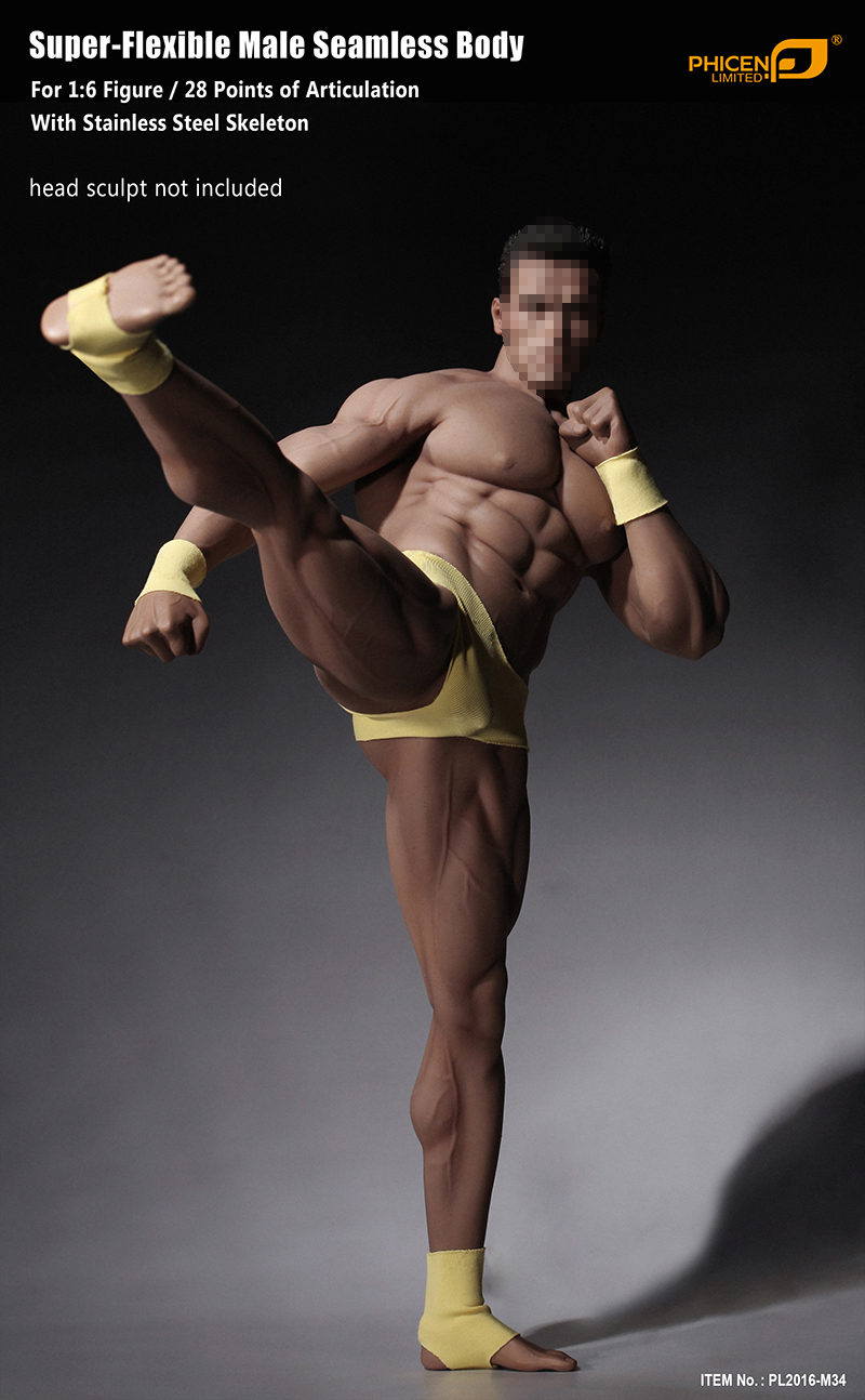 12/ Male Wide Shoulder Muscular Action Figure Body Fit 1