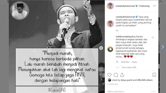 Ustaz Abdul Somad Bicara soal Orang Marah Sebar Fitnah karena Beda Pilihan