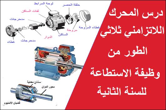 درس المحرك اللاتزامني ثلاثي الطور للسنة الثانية هندسة كهربائية تقني رياضي
