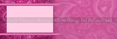 12x36 Marriage Album Design Psd