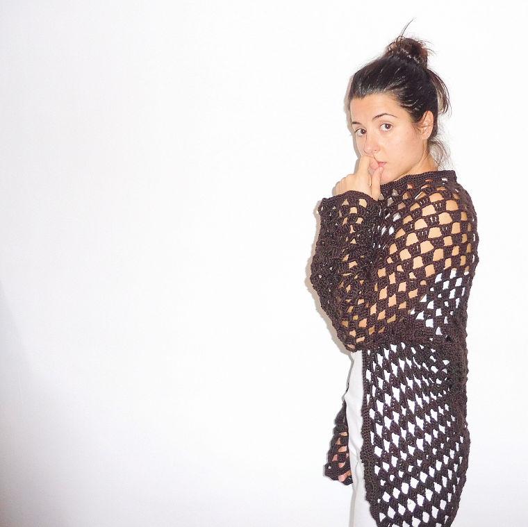 PUNTXET Chaqueta de ganchillo calada #crochet #ganchillo #knit #punto #handmade #etsy