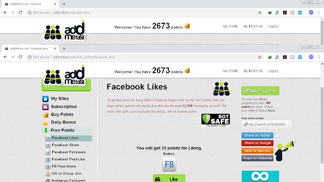 Cara Sukses Mendapatkan Subscriber, Follower dan Like Menggunakan Addfastme