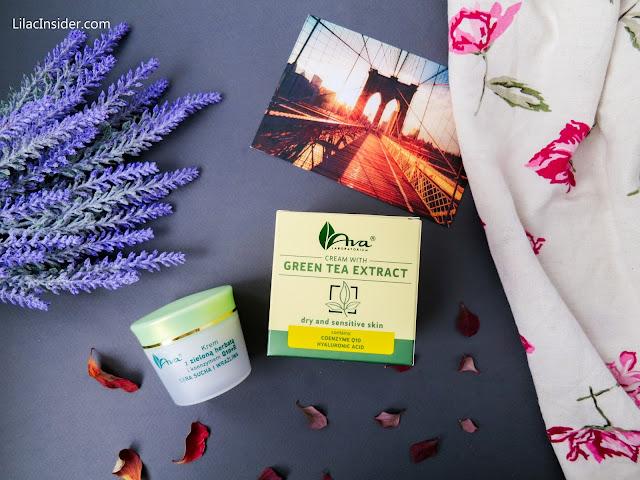 Крем для сухой и чувствительной кожи с экстрактом зеленого чая и коензимом Q10+R AVA Laboratorium