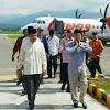 Bupati Sambut Kedatangan Plt Gubernur Jambi di Bandara Depati Parbo