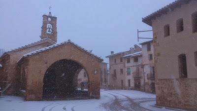 ermita,Santa Ana, Beceite, Beseit, nevado, nieve