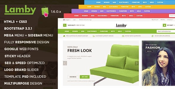 Premium Multipurpose Prestashop Theme 2015