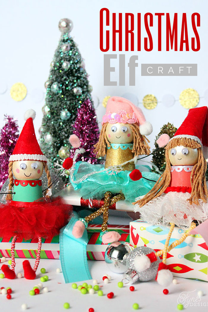 Christmas crafts, Christmas Elves, Kids crafts