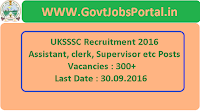 UKSSSC Recruitment 2016